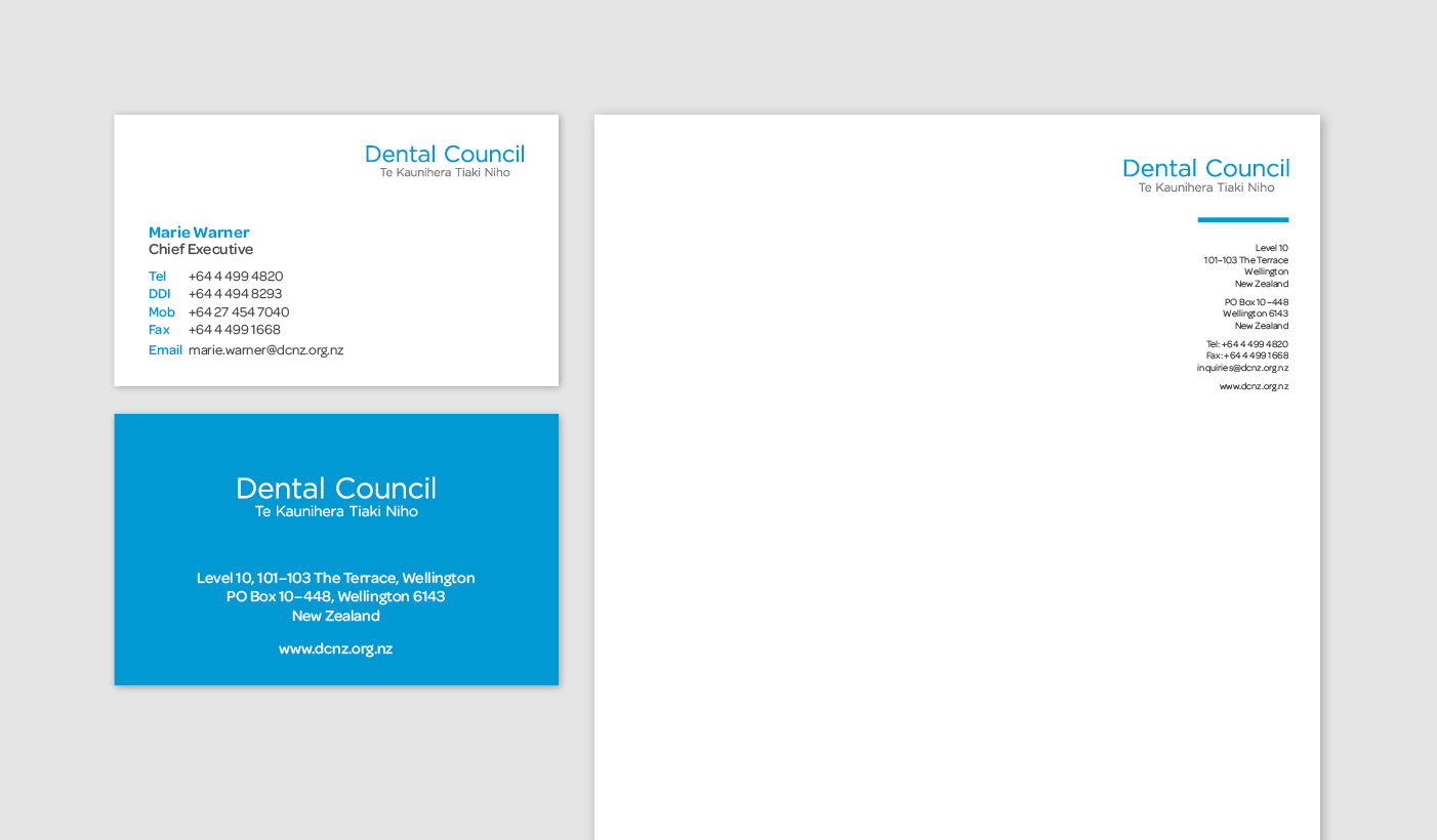 Dental Council stationery