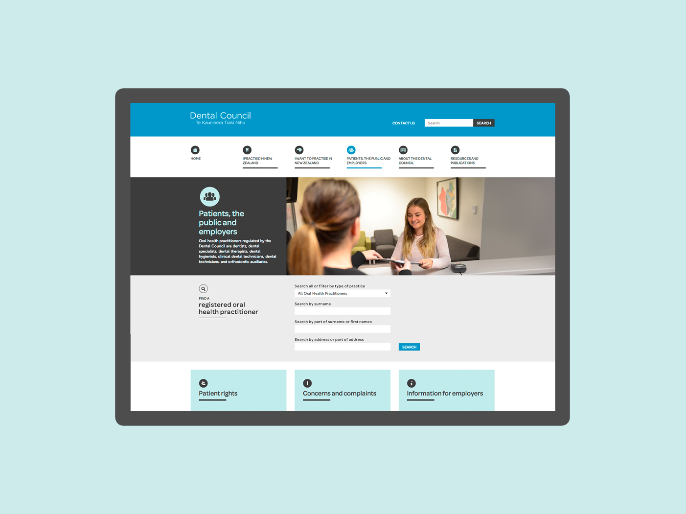Dental Council website
