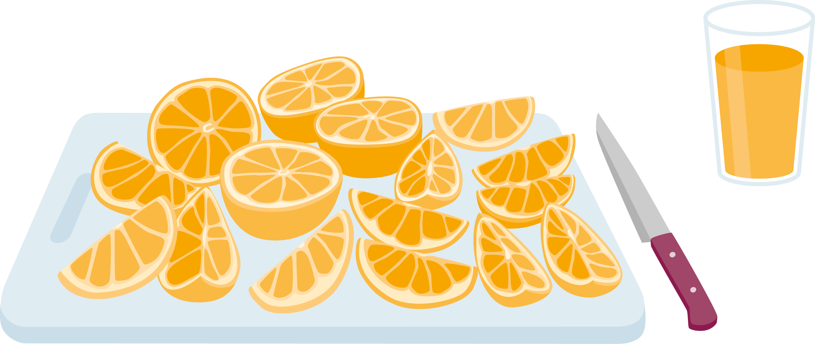 Gusto sugar and health infographic Orange Juice
