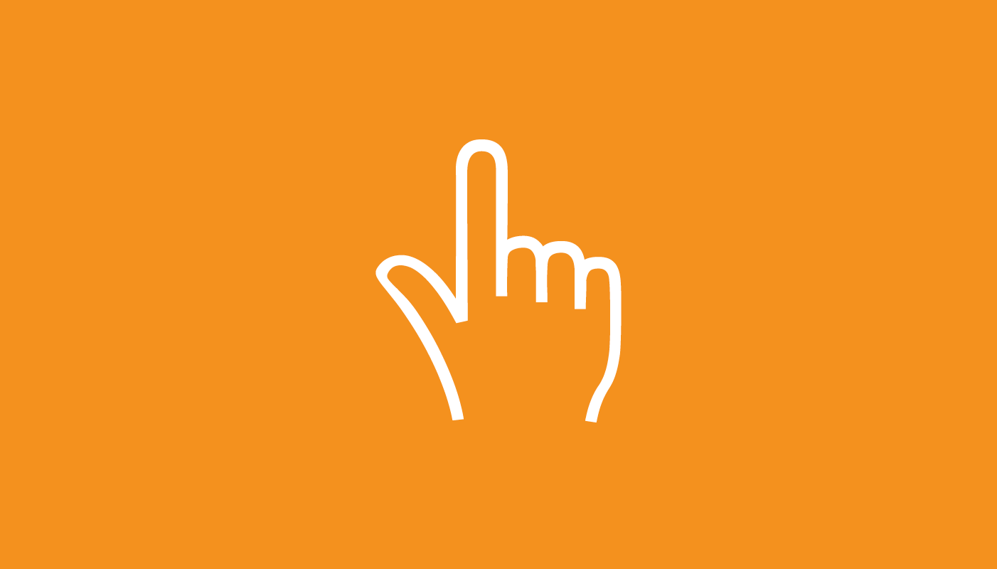 Web cursor hand