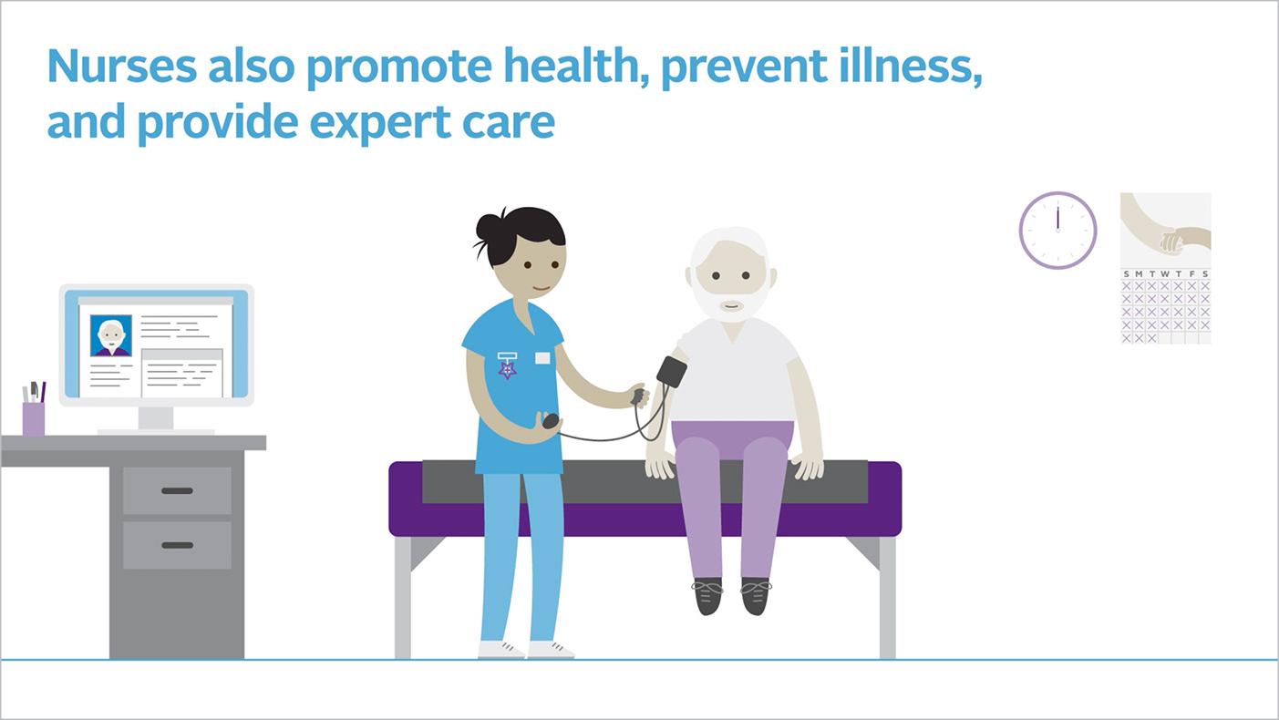 Still image from nursing animation