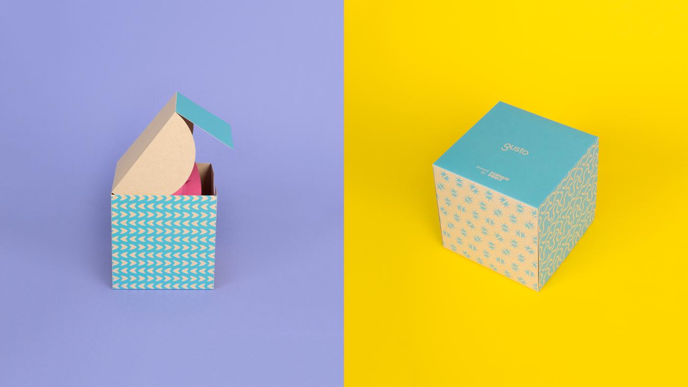 Paper bud gift box