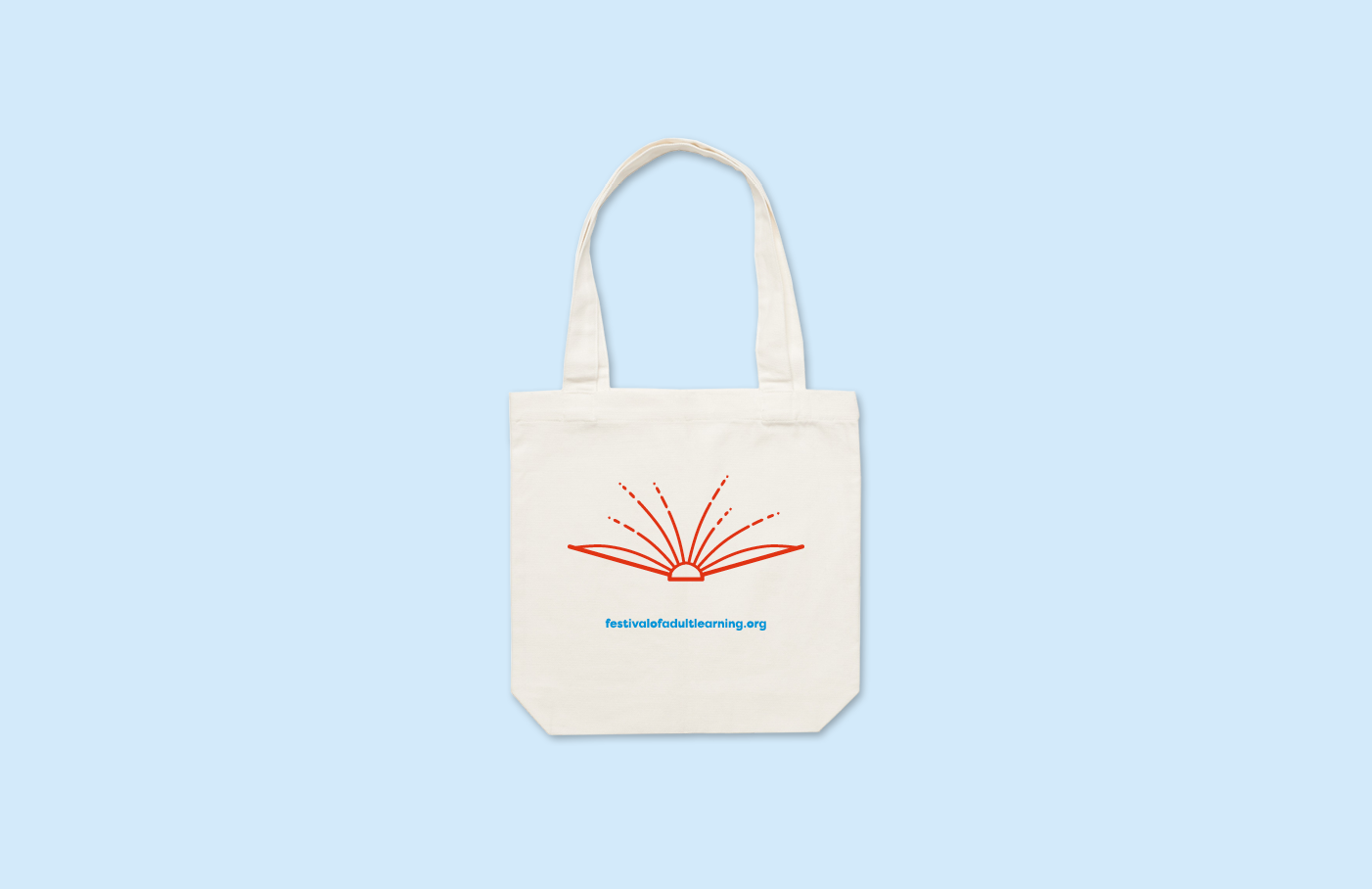 ACE Aotearoa Festival of Adult Learning rebrand - new bookmark and tote bag